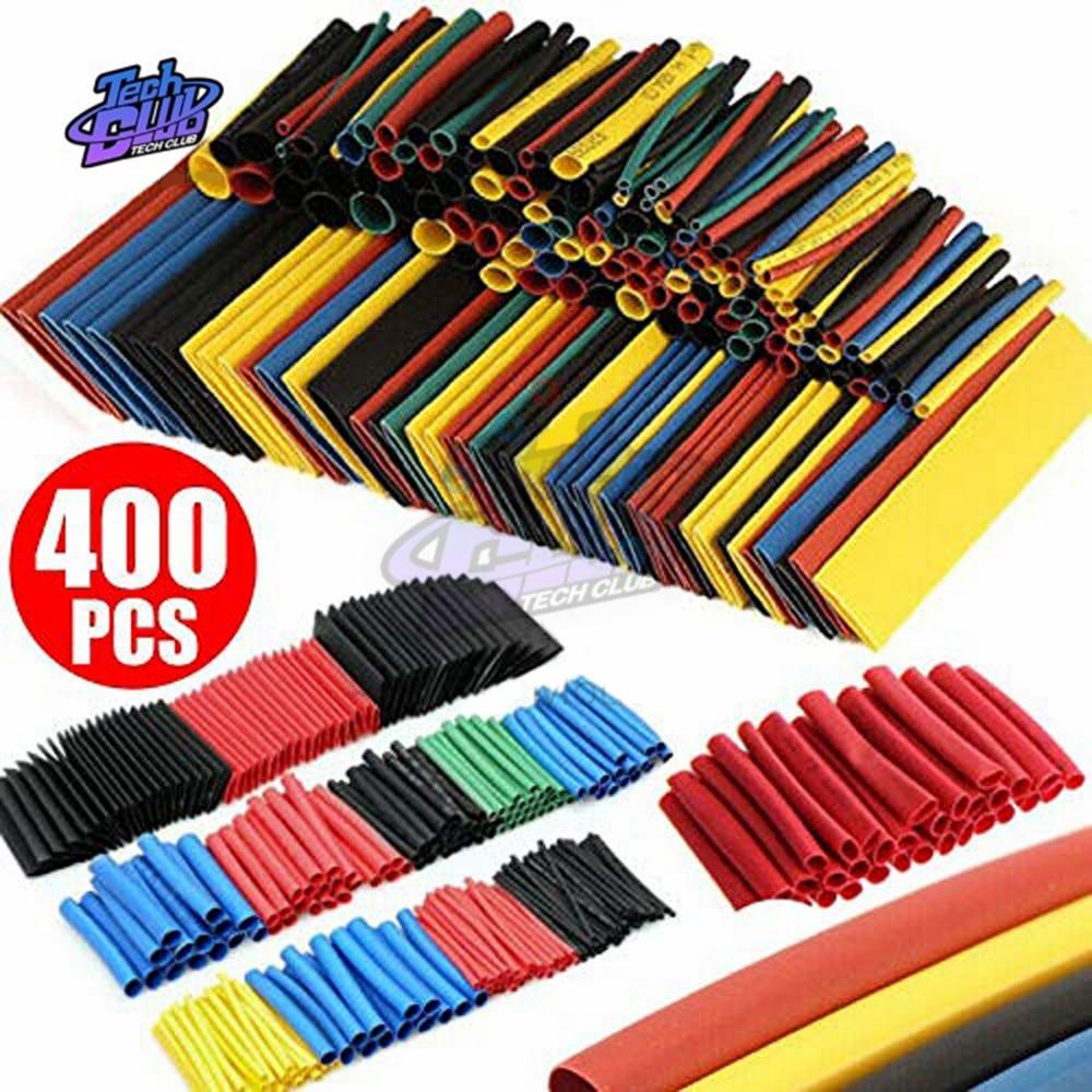 400PCS/Lot Polyolefin Heat Shrink Tube Set 8 Sizes 1-14mm 2:1 Heat Shrink Tubing Insulation Shrinkable Tube Wire Cable