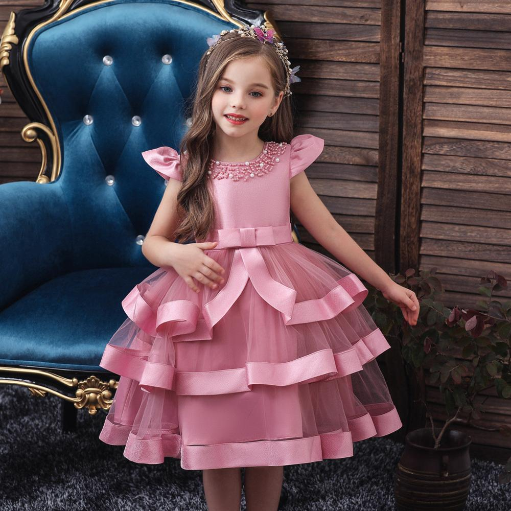 Children Floral Prom Dress Evening Formal Gowns Christmas Party Dresses Clothing