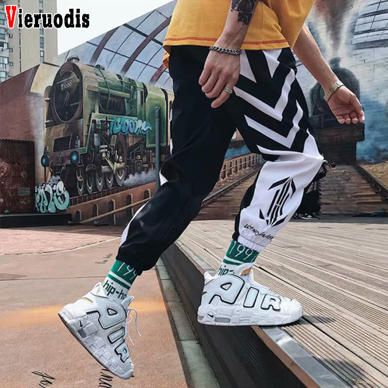 Men's  2019 Streetwear Hip Hop Joggers Pants Men Loose Casual Harem Pants Ankle Length Trousers Men Sweatpants M-3XL