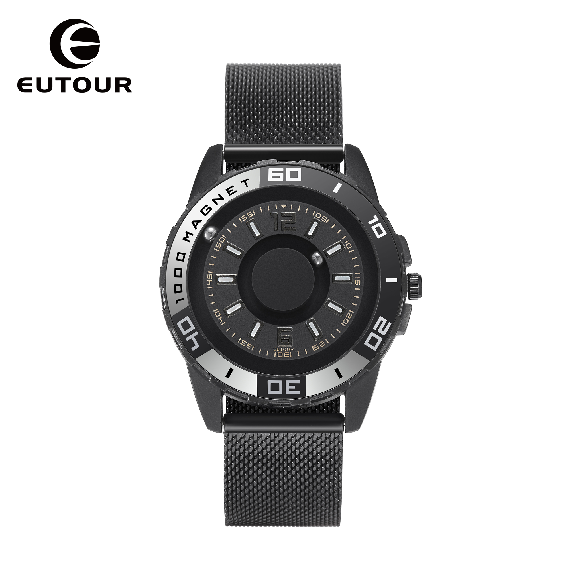 EUTOUR  Quartz Watch Men's Luxury Sports Design Shell Original Magnetic Watch Fashion Simple Watch Belt Men's Watch Gift