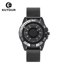 EUTOUR  Quartz Watch Mens Luxury Sports Design Shell Original Magnetic Fashion Simple Belt Gift