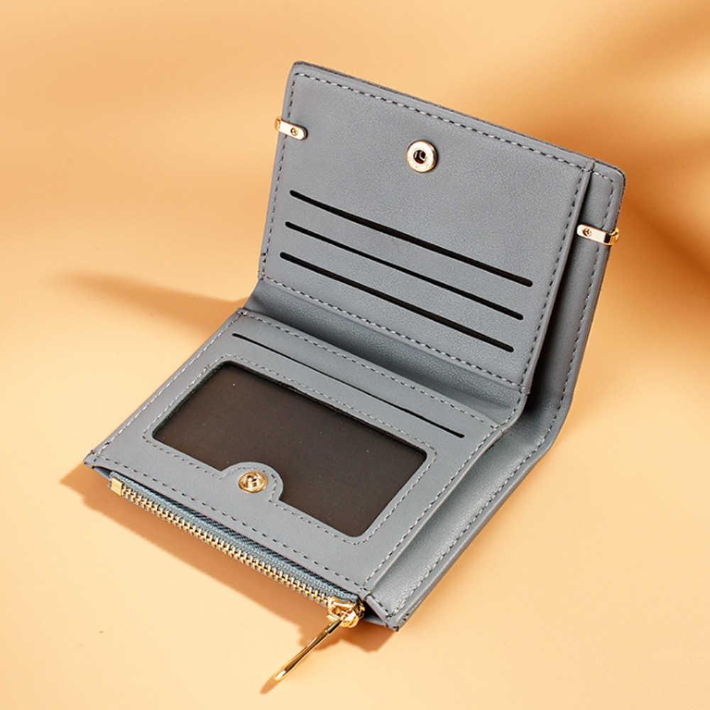 2019 محفظة جلدية صغيرة النساء Vintage محافظ النساء الفاخرة العلامة التجارية محافظ مصمم محفظة حامل بطاقة الإناث عملة قصيرة Carteira