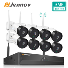 Camera-Kit Surveillance-System-Set Nvr Wifi Jennov Security Outdoor 5mp Cctv Video Wireless