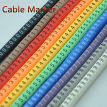 500PCS EC-0 EC-1 EC-2 Cable Wire Marker 0 to 9 For Cable Size 1.5-4 sqmm Colored