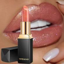 Handaiyan wodoodporny Nude Glitter szminka makijaż długotrwały Velve czerwony syrenka Sexy Shimmer kosmetyk pomadka do ust uroda