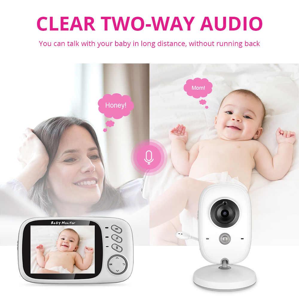 AOUERTK اللاسلكية مراقبة الطفل الصوت والفيديو الداخلي كاميرا لمراقبة الأطفال للرؤية الليلية مراقبة درجة الحرارة الطفل مربية الأمن كاميرا