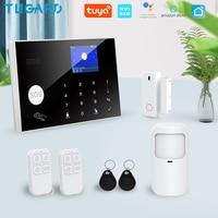 Tugard-sistema de alarma de seguridad antirrobo Tuya, inalámbrico, Wifi, Gsm, Smart Life, Alexa, aplicaciones de Google, Control con Sensor Detector