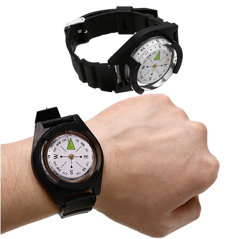 Outdoor Tactical Wrist Compass Hiking Camping Climbing Tool Tourism Equipment Military Survival Strap