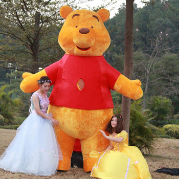 3M Inflatable Yellow Bear Mascot Costume Suits Cosplay Party Game Dress Outfits Advertising Carnival Halloween Xmas Easter Adult