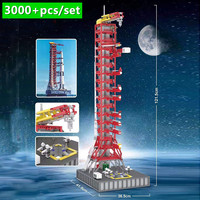 New 114CM High 3073PCS Space Series Apollo Saturn-V Launch Umbilical Tower FOR 21309 Technic Building Blocks Bricks Gift Kid