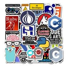 Новинка 50 шт. Программирование наклейка технология программного обеспечения программы данные наклейки для компьютера для Geek DIY компьютер ноутбук телефон PS4