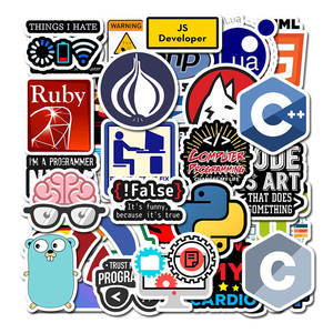 Programming-Sticker Laptop Geek Data Technology Software 50pcs for DIY Computer Phone
