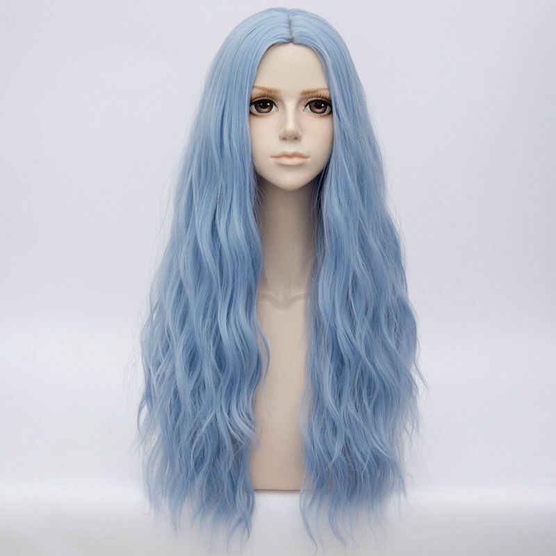 Cosplaymix 78 CM  Cosplay Lolita Heat Resistant Fluffy Long Curly Halloween Synthetic Wig+Cap