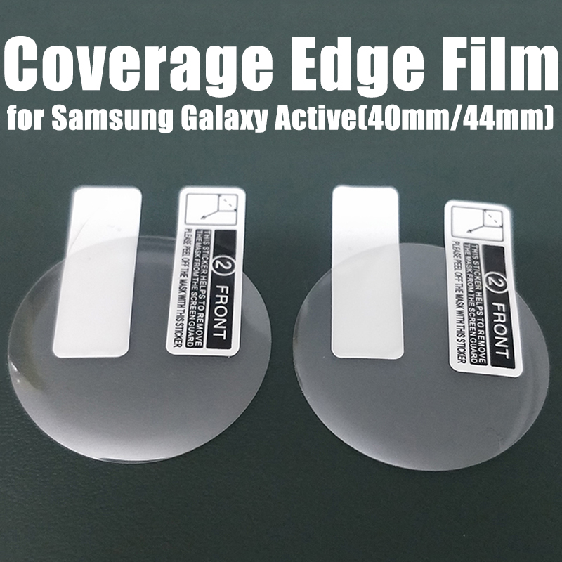 2pcs 3D Full Curved Protective Film For Samsung Galaxy Watch Active 2 Tempered PET Soft Screen Protector For Active2 40mm 44mm