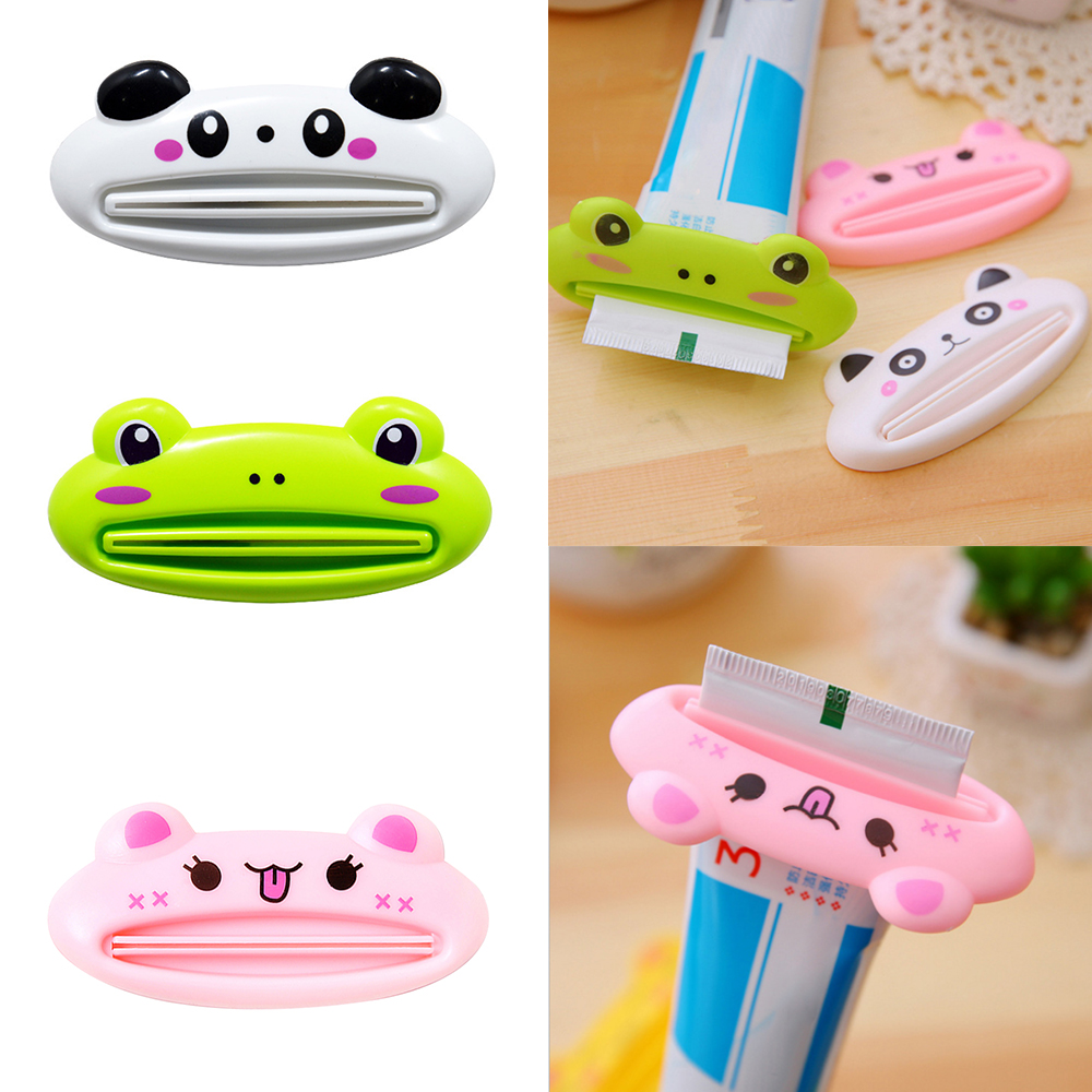 1pcs 9cm*3.8cm Cute Animal Bathroom Home Tube Rolling Holder Toothpaste Squeezer Cartoon Toothpaste Dispenser Daily Necessities