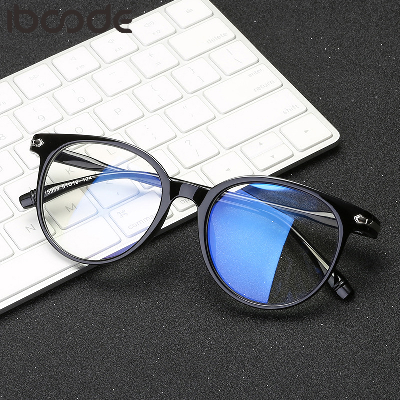 iboode Retro Round Finished Myopia Glasses Men Women Ultralight Transparent Eyeglasses 0 -1 -1.5 -2 -2.5 -3 -3.5 -4 -4.5 -5 -6.0 image
