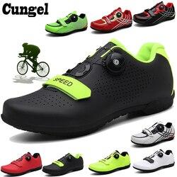 Cungel ciclismo sapatos de ciclismo mtb tênis mulher sapatos de bicicleta de montanha auto-bloqueio superstar sapatos de bicicleta originais