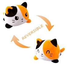 Crianças meninas engraçado flip doll polvo de pelucia reversivel jouet enfant brinquedos sapo petits animaux gatos