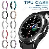 Funda de TPU suave para reloj inteligente, accesorios de protección de parachoques chapado para Samsung Galaxy Watch 4, Reloj clásico de 42MM / 46MM
