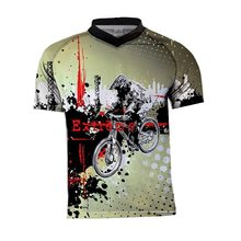 2020 quick-drying motorcycle MX bike motocross jersey BMX DH MTB Short-sleeved breathable quick-drying t-shirt clothing mtb(China)