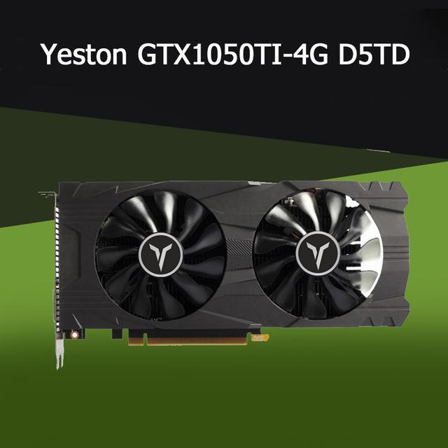 Yeston geforce gtx 1050ti 4g d5 gaea placa gráfica com 1291-1392mhz/7008mhz 4gb/128bit/gddr5 sistema de refrigeração por gravidade de memória 3