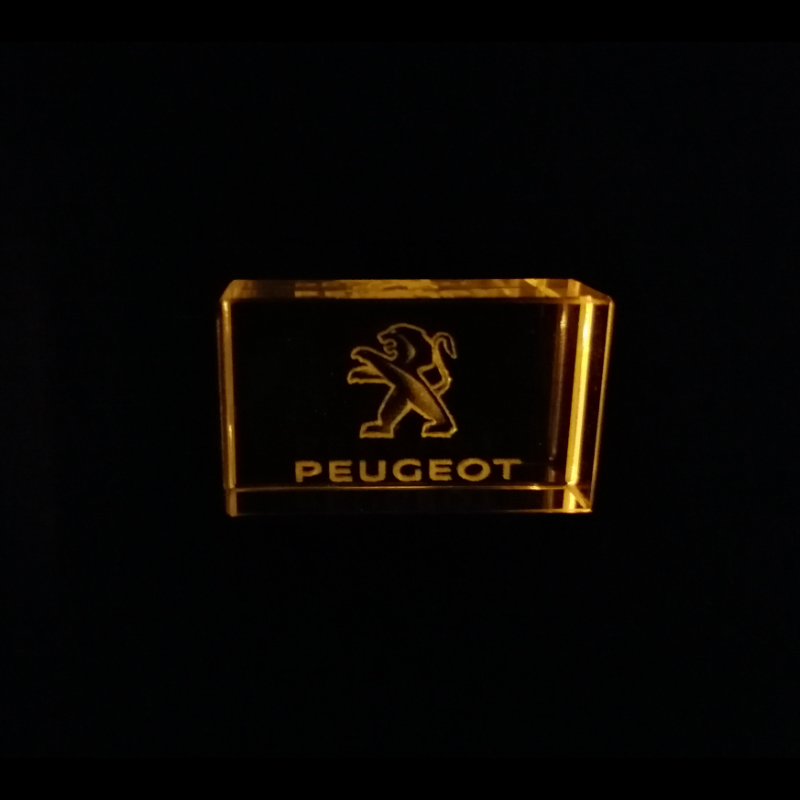 Peugeot Car Logo Sign Crystal USB Flash Drive 4GB 8GB 16GB 32GB 64GB 128GB Custom Logo  External Storage Memory Stick U Disk