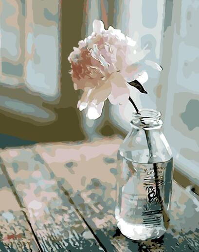 Lonely Rose Paint By Numbers For Adults Kits DIY Coloring By Numbers Flower Picture Oil Painting By Numbers Peinture A Numero