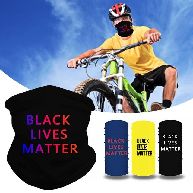 Black Lives Matter Mask Quick-drying Breathable Sport Cycling Skiing Hiking Bandana Scarf Men Women Neck Gaiter Cover Face Scarf 1