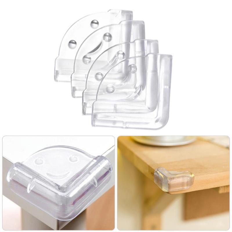 4Pcs Anti Collision Edge Corners Silicone Guard Desk Protector Comfortable Portable Intelligent Transparent Cover