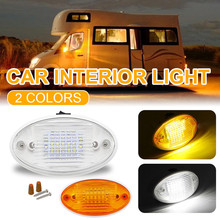 Universal 12V Car Interior Light Ceiling Dome Reading Light with Toggle Switch for Camper Caravan Motorhome Marine Boat