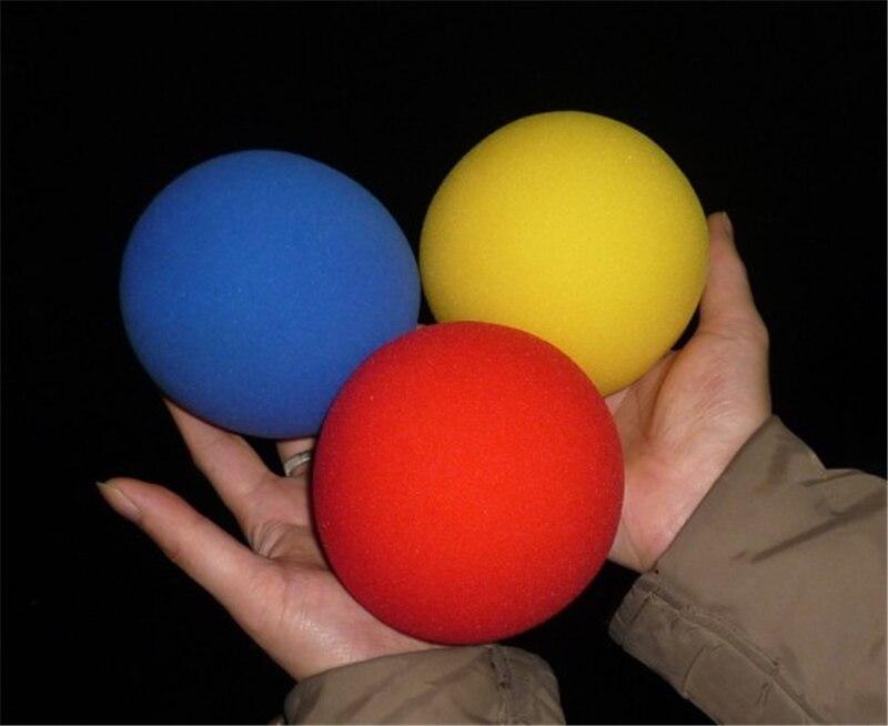 1 Pcs Big Yellow Magic Sponge Ball (10cm Diameter) Magic Tricks Soft Ball Excellent Elasticity Classic Ball Street Close Up