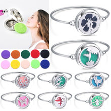High Quality Locket Bracelet Bangle Christmas Stainless Steel Essential Oil Diffuser Perfume Aromatherapy Aromatherapy Bracelet(China)