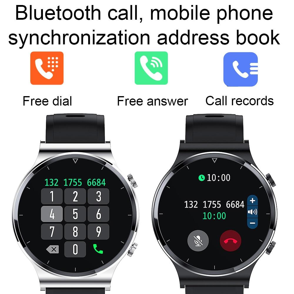Nuovo Bluetooth chiamata Smart Watch uomo S-600 IP68 impermeabile schermo a sfioramento completo sport Fitness Smartwatch viso personalizzato per Android IOS 2