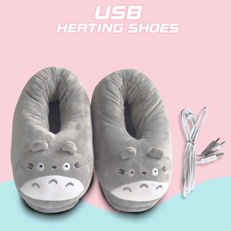 2019 Real Direct Selling Heated Slippers Usb Shoe Foot Warmer Plug Electric Heating Shoes Feet Pad Cartoon Plush Warm Gift|Electric Heating Pads| |  - title=