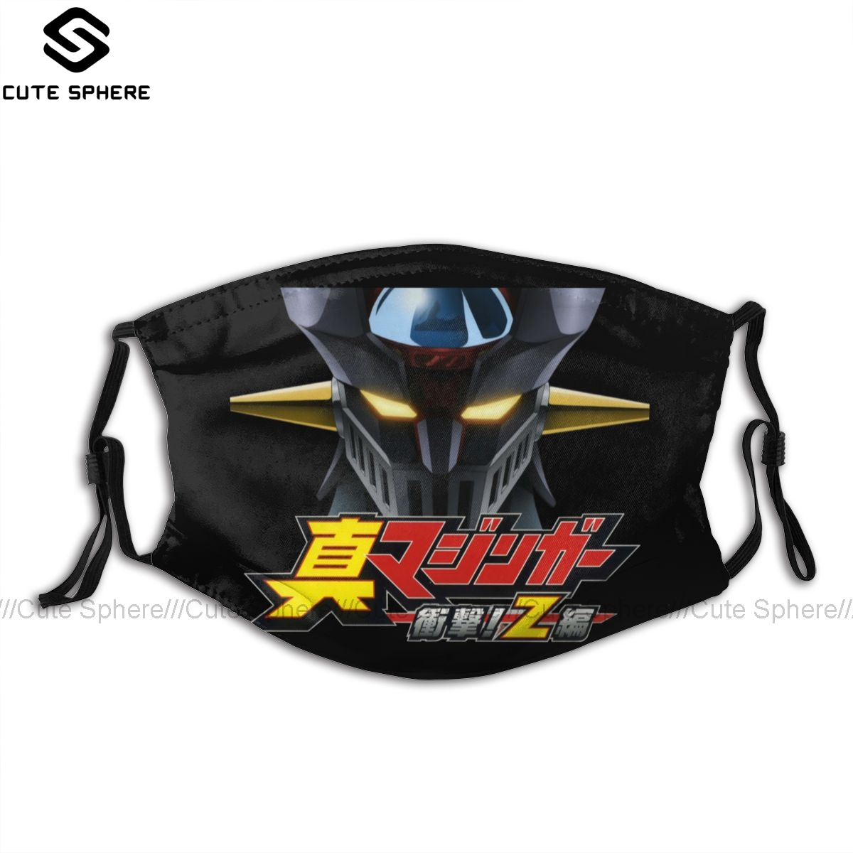 Mazinger Z Mouth Face Mask Shin Anime Cartoon Facial Mask Funny Fashion With 2 Filters For Adult