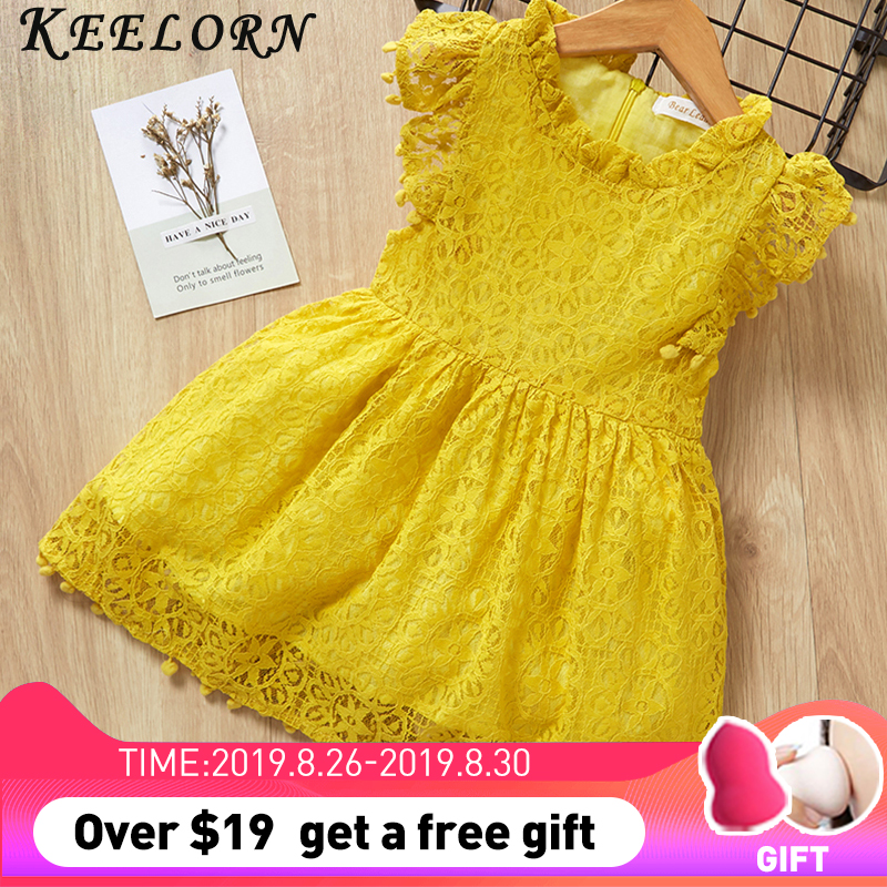 Keelorn Girls Dress 2019 Casual Summer Style Bull-puncher Dresses Kids Clothes Backless Denim Dress  Shoulder-Straps 3-7Y