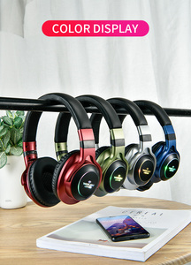 Image 5 - UKKUER LED Licht Drahtlose Bluetooth Kopfhörer 3D Stereo Kopfhörer Mit Mic Headset Unterstützung TF Karte FM Modus Audio Jack