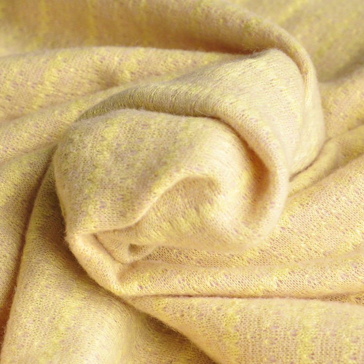 JaneYU Yellow knitting wool fabric autumn and winter clothes skirt 50x160cm