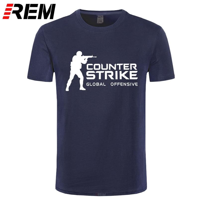 REM marca Tee CS GO camiseta Counter Strike Global Offensive CSGO camiseta hombres Casual juegos equipo divertida camiseta verano Tops