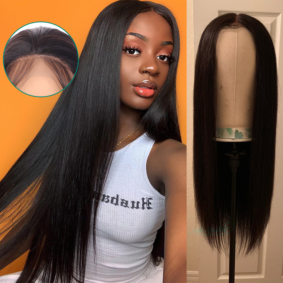 Ali Grace Straight Lace Front Wigs Pre-Plucked Hairline With Baby Hair Brazilian Remy Human Hair Lace Wigs 360 Lace Frontal Wigs