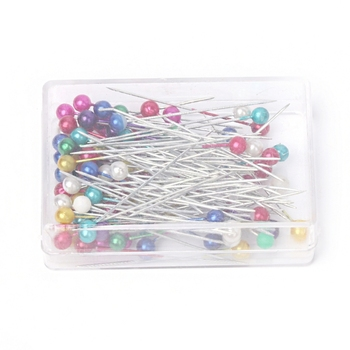 100 Pcs Pack Mix Color Round Head DIY Craft Location Pins Push Map Tacks Pins image