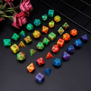 Luminous Polyhedral Sided Dice D4 D6 D8 D10 D12 D20 Set For D&D RPG Poly Game 7pcs/set