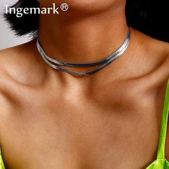 цена на Indian Sexy Snake Chain Choker Necklace Statement 2020 Fashion Gothic Punk Layered Africa Silver Color Necklace Women Jewelry