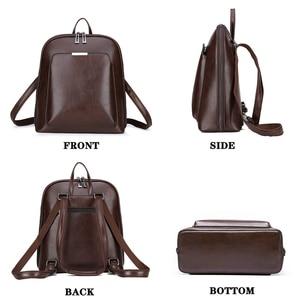 Image 2 - 2019 Summer fashion women backpack high quality leather backpacks female bagpack solid school shoulder bag for girls Sac a Dos