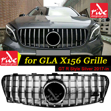 Fits For MercedesMB GLA-Class X156 Sports grille grill GT R Silver GLA200 GLA250 GLA45AMG look Front grills without sign 2017-in