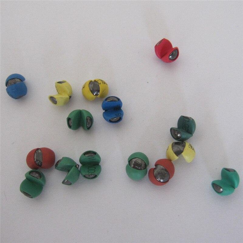 Color Bag Plastic Adjustable Split Shot Rock Fishing Sinker Lead Sinker Fall Micro Lead Raft Fishing Wheel Does Not Damage Line