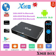 X96h caixa de tv android 9.0 smart tv box 4 gb ram 64g quad core duplo wifi netflix youtube google play store 4 k android tv conjunto caixa superior(China)