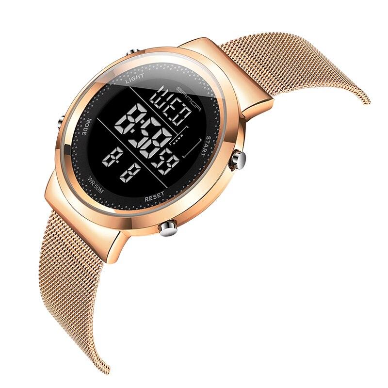Stainless Steel Digital Watch Women Sport Watches Electronic Led Ladies Wrist Watch For Women Clock Female Wristwatch Waterproof