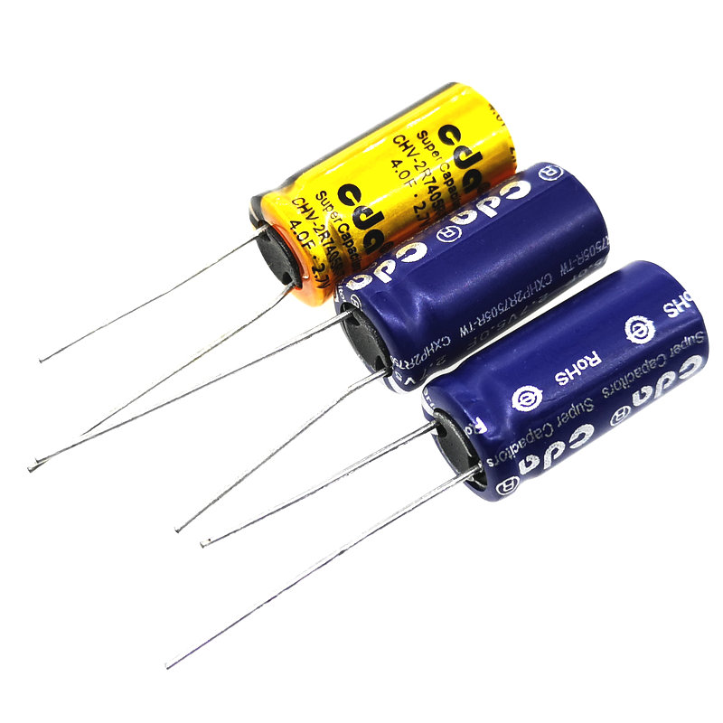 1PCS 2.7V 4F 5F 5.0F 8F SuperCapacitor Vehicle Traveling Data Recorder Is Special Capacitance 4F 2.7V 10*20mm Farah Capacitor