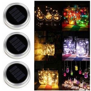 3pcs Solar Powered Mason Jar L
